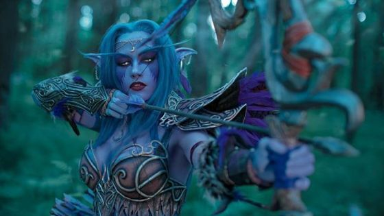 Narga brings the legendary Night Elf leader, Tyrande Whisperwind, to life -- owl and all -- in the following photoset.