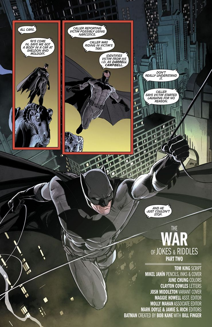 'Batman Vol. 4: The War of Jokes and Riddles' uses Batman's treasure trove of rogues to the fullest
