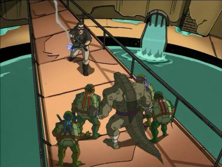 Turtles confront Marlin