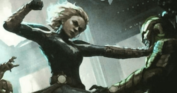 Brie Larson shows off first look at Captain Marvel costume