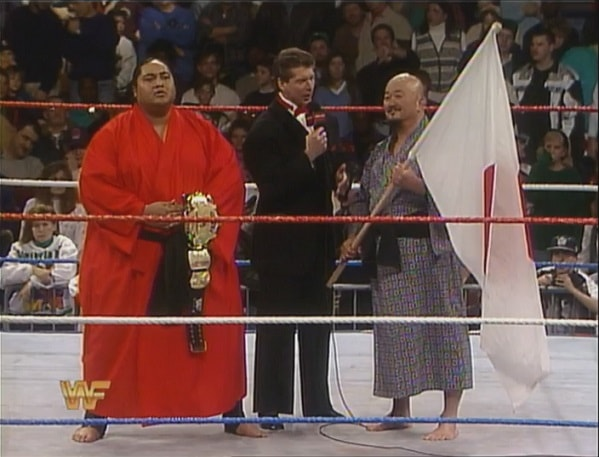 Vince McMahon Interviewing Yokozuna and Mr. Fuji
