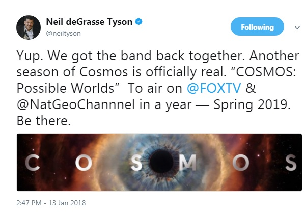 Neil deGrasse Tyson and Seth MacFarlane 'got the band back together' for Cosmos Season 2