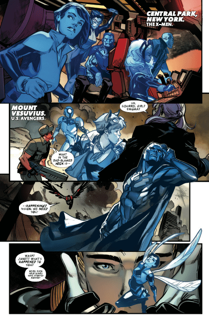 What strange thing is happening to Avengers members in 'No Surrender'?