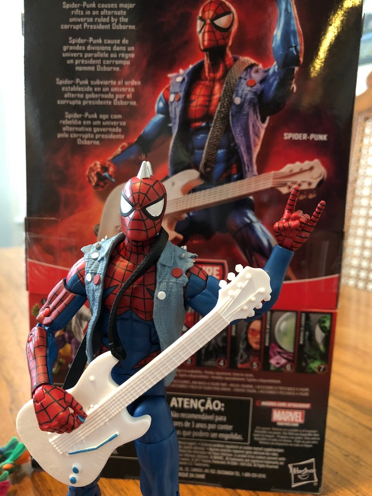 "Unboxing/Review: Marvel Legends Lizard wave Spider Punk 6"" action figure"