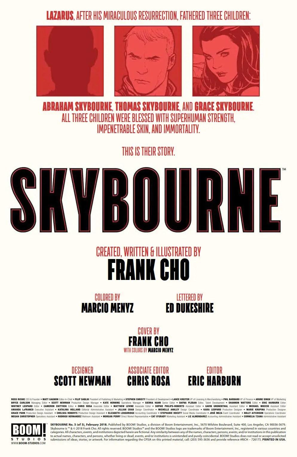 Skybourne #5 Review