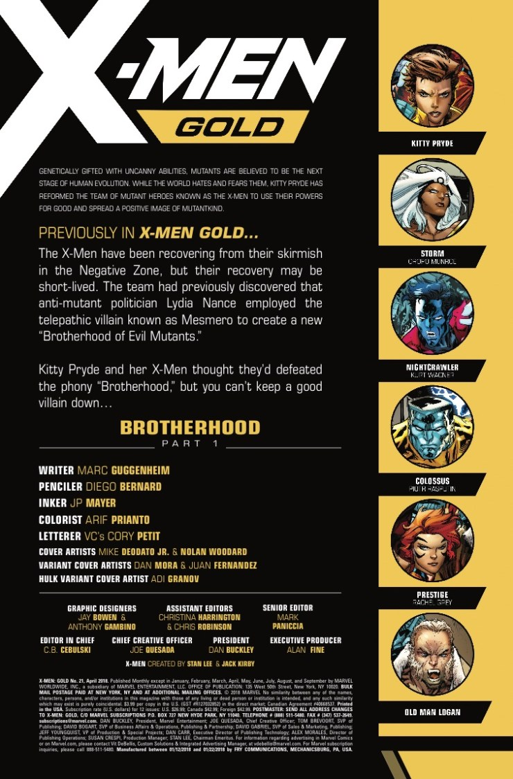Marvel Preview: X-Men Gold #21