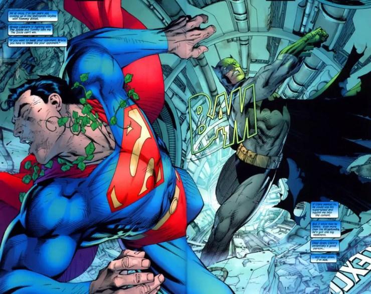 Batman #42: Bat and Cat under house arrest courtesy of Superman