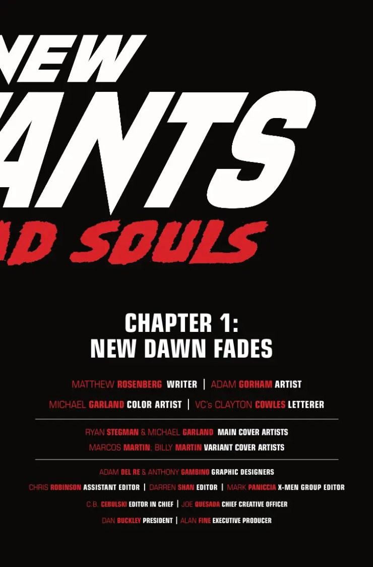 Marvel Preview: New Mutants: Dead Souls #1