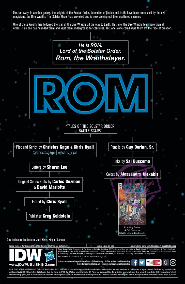 [EXCLUSIVE] IDW Preview: ROM: Tales of the Solstar Order #1 Special Edition
