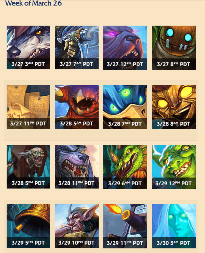 Hearthstone: Leaked card names and card release schedule for upcoming expansion, The Witchwood