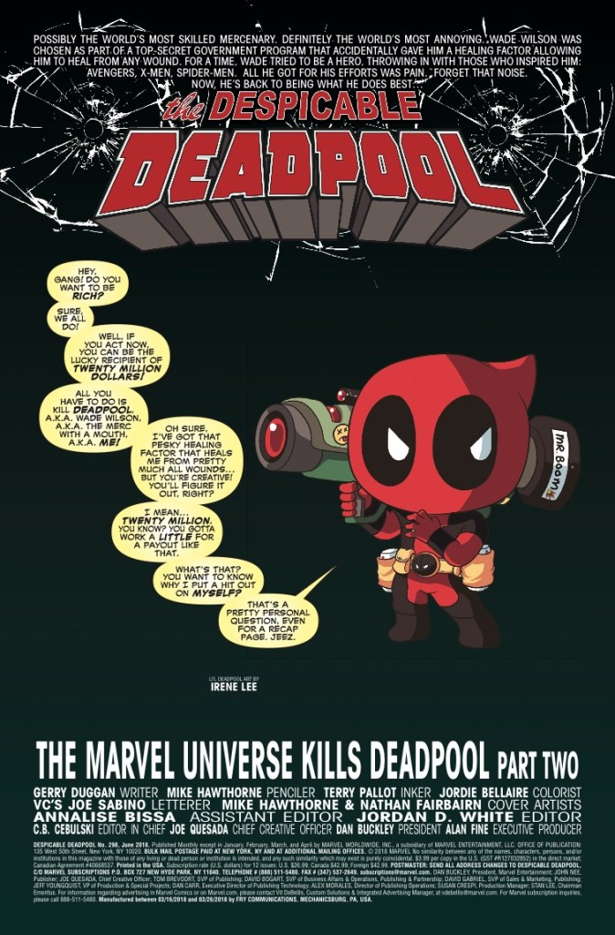 Marvel Preview: Despicable Deadpool #298