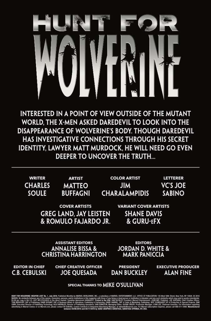 Marvel Preview: Hunt for Wolverine: Weapon Lost #1