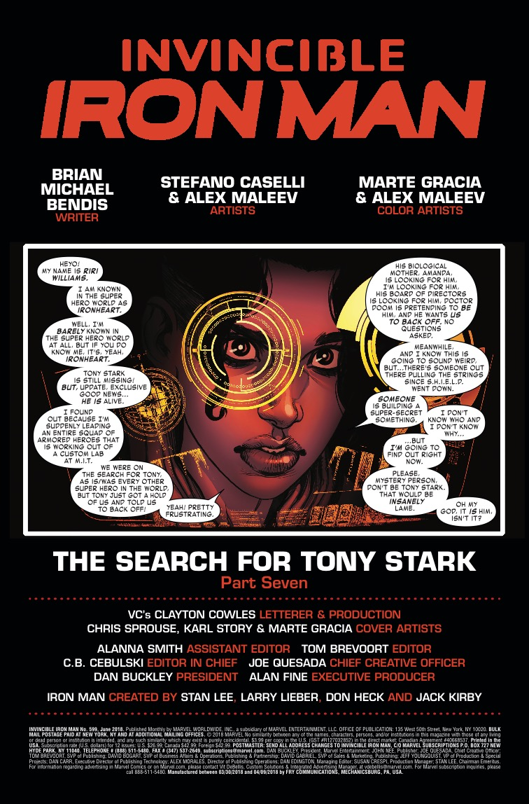 Invincible Iron Man #599 Review
