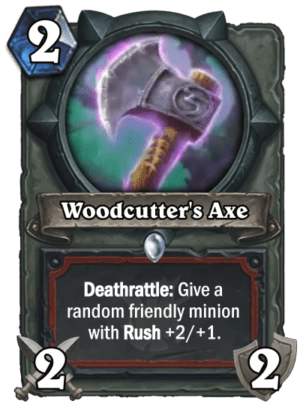 Hearthstone: The Witchwood: New Warrior weapon card revealed, Woodcutter's Axe