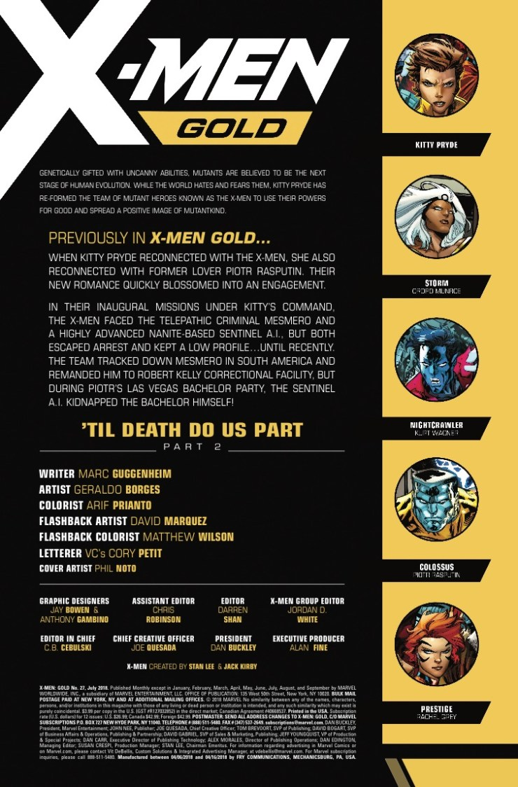 Marvel Preview: X-Men Gold #27