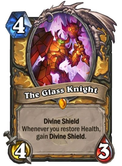Hearthstone: The Witchwood: New Paladin Legendary revealed, The Glass Knight