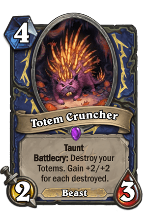This new epic Shaman minion is like a Scavenging Hyena... only for totems.  Sort of.