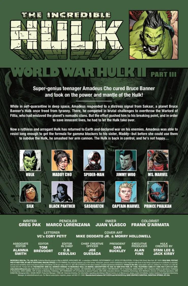 Marvel Preview: Incredible Hulk #716