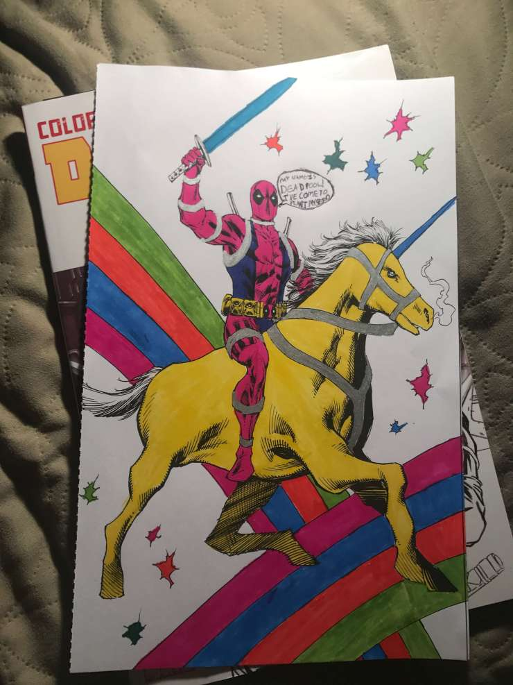 Color Your Own Deadpool Again! review: Relaxing fun for inkers of all skill level
