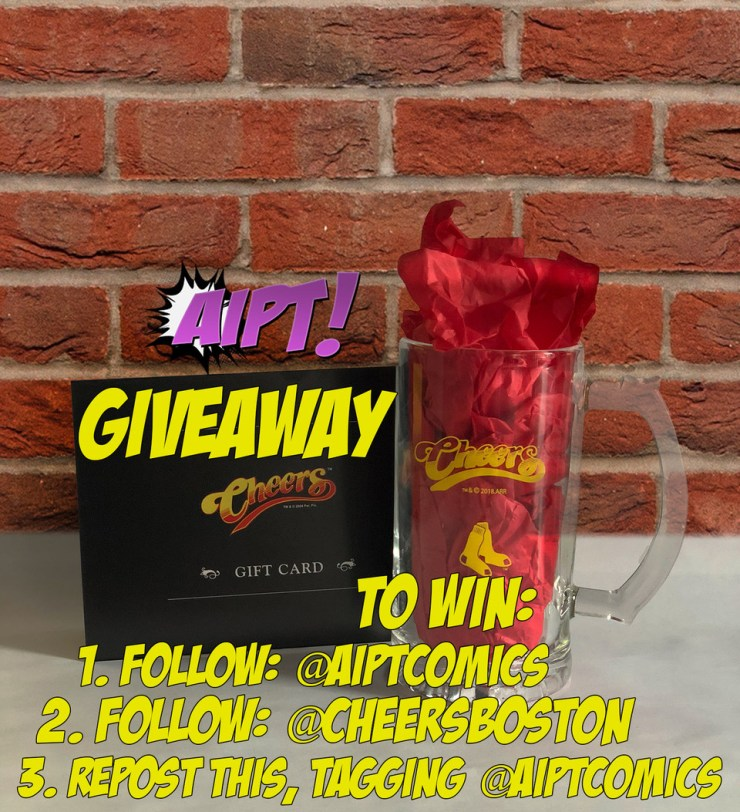 AiPT! Giveaway: Red Sox and Cheers pint glass with Cheers gift card