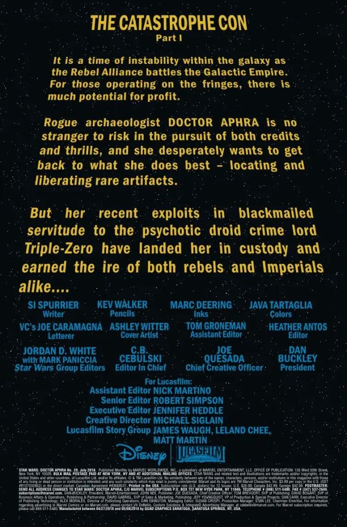 Marvel Preview: Star Wars: Doctor Aphra #20