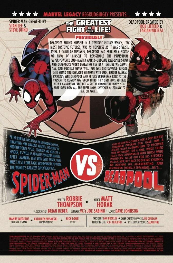 Marvel Preview: Spider-Man/Deadpool #35