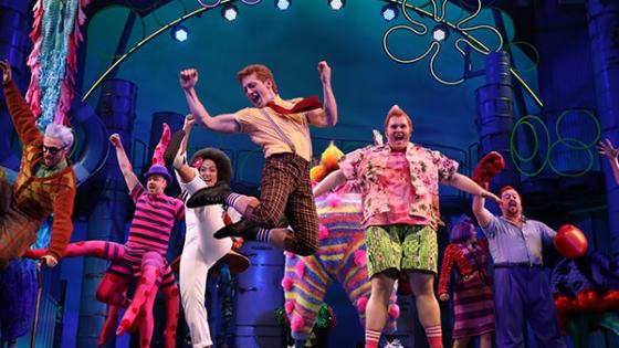 """Upon hearing an elevator pitch for SpongeBob SquarePants: The Broadway Musical, you might not think it could work: """"Let's have costumed humans portraying abstract cartoon sea creatures, singing songs written by a variety of non-Broadway artists, such as Aerosmith, T.I., and They Might Be Giants."""" Well, after 12 Tony nominations, including one actual win for Best Scenic Design, someone must have done something right!"""