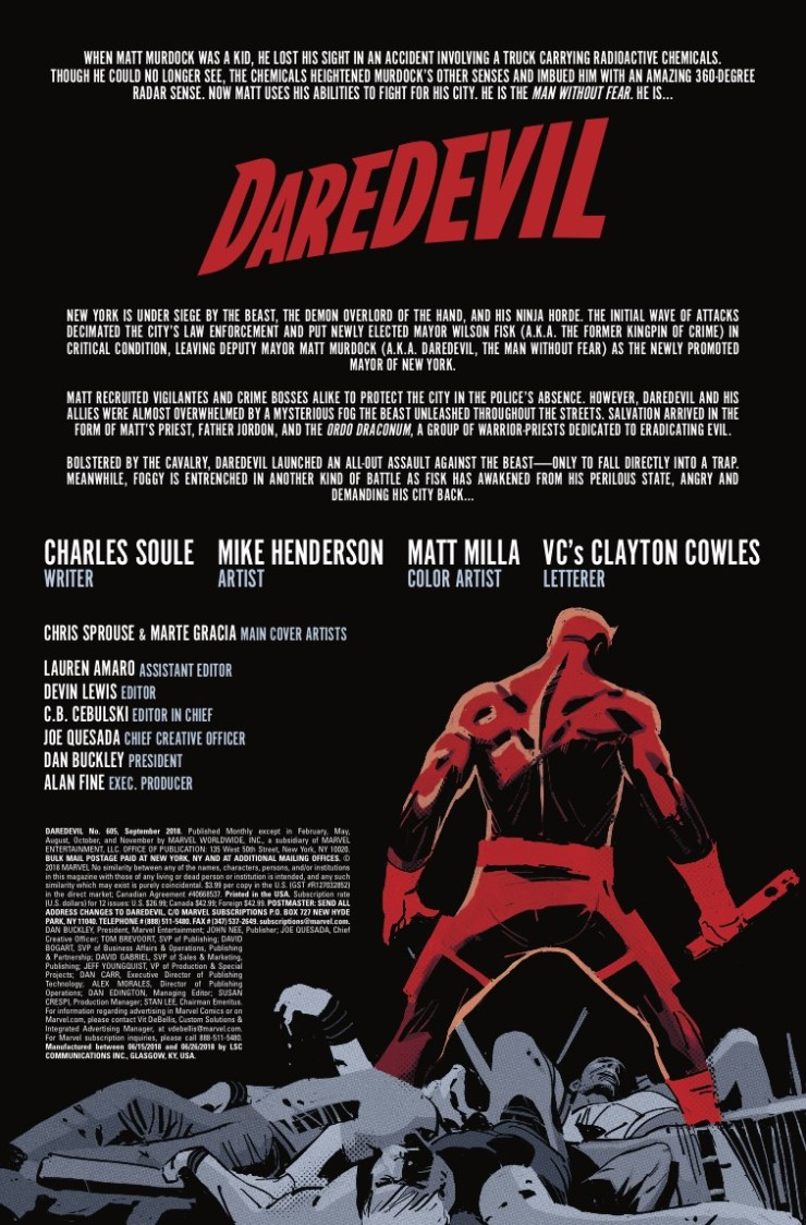 Marvel Preview: Daredevil #605