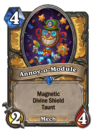 Hearthstone: The Boomsday Project: New Rare Paladin minion revealed, Annoy-o-Module