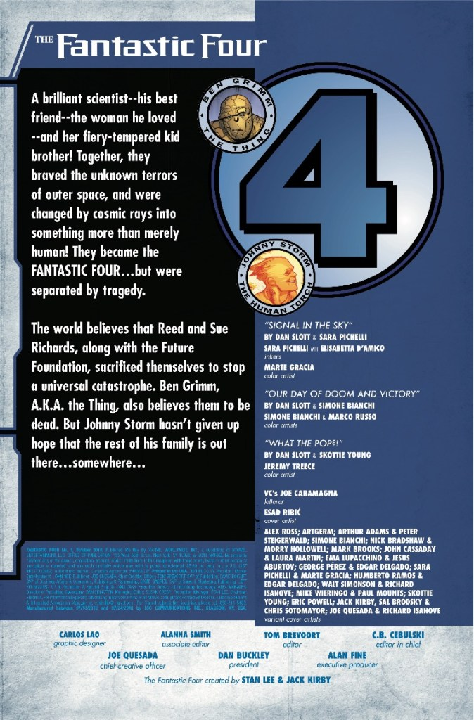 Marvel Preview: Fantastic Four #1