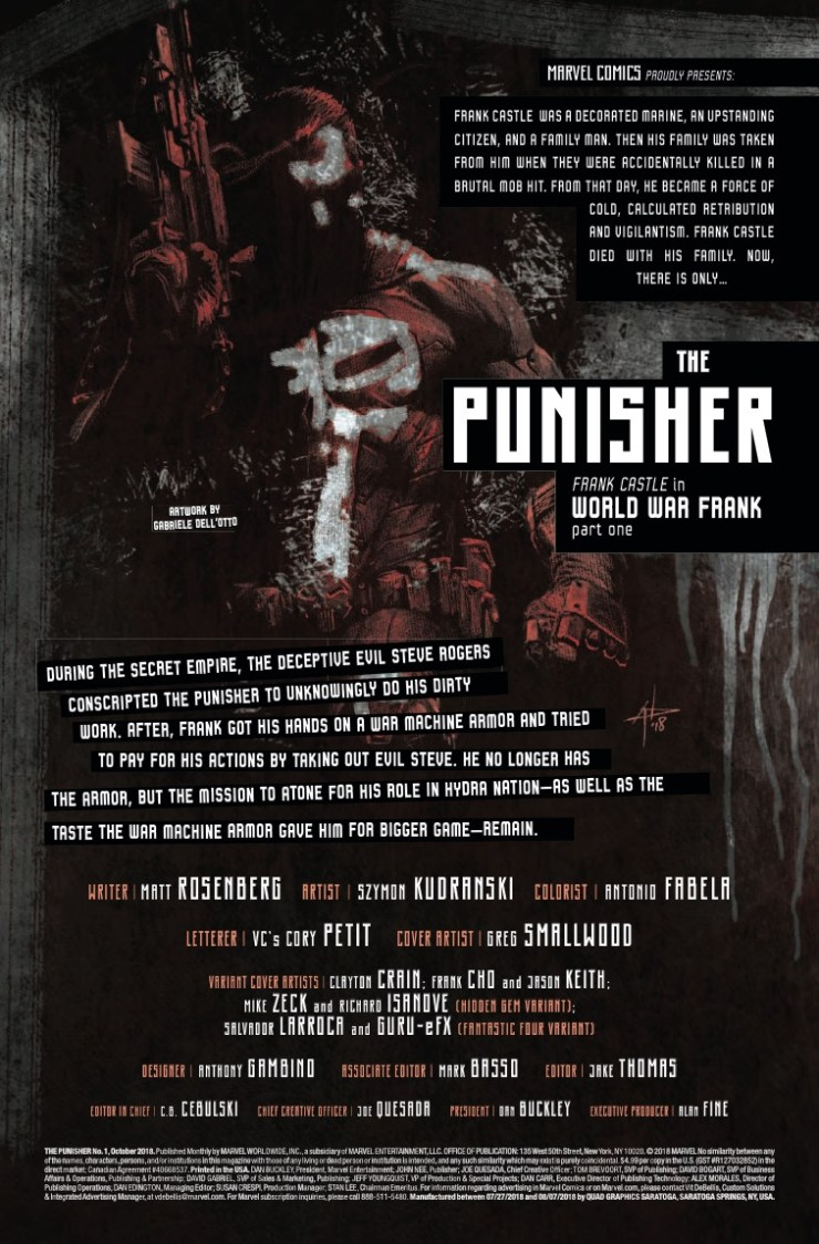Marvel Preview: The Punisher (2018-) #1