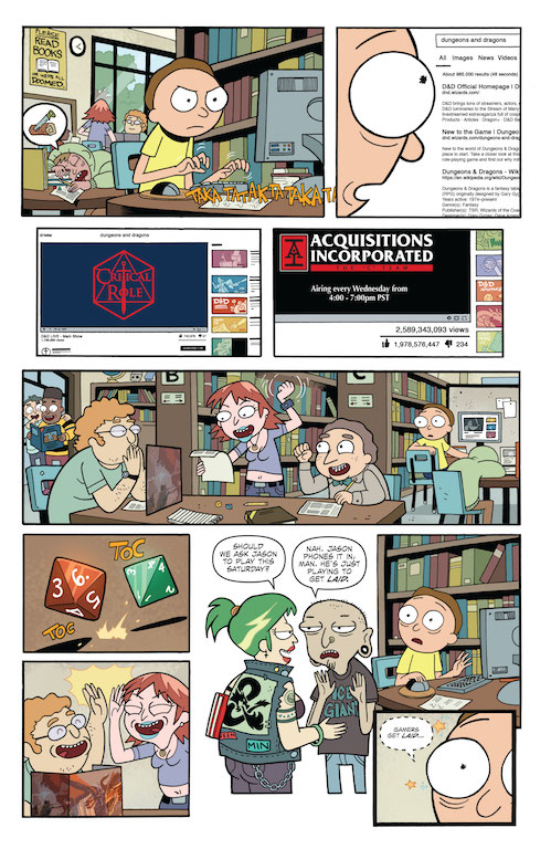 Oni/IDW Preview: Rick and Morty vs. Dungeons & Dragons #1