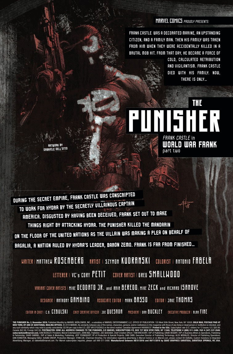 The Punisher #2 review: Fantastic art backed by a great script