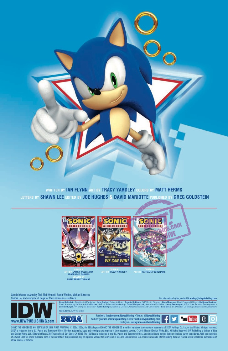 [EXCLUSIVE] IDW Preview: Sonic the Hedgehog #9