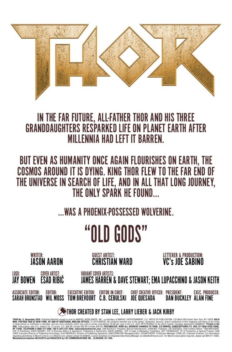 Marvel Preview: Thor #5