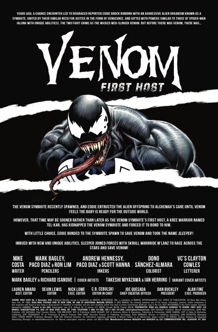 Marvel Preview: Venom: First Host #4