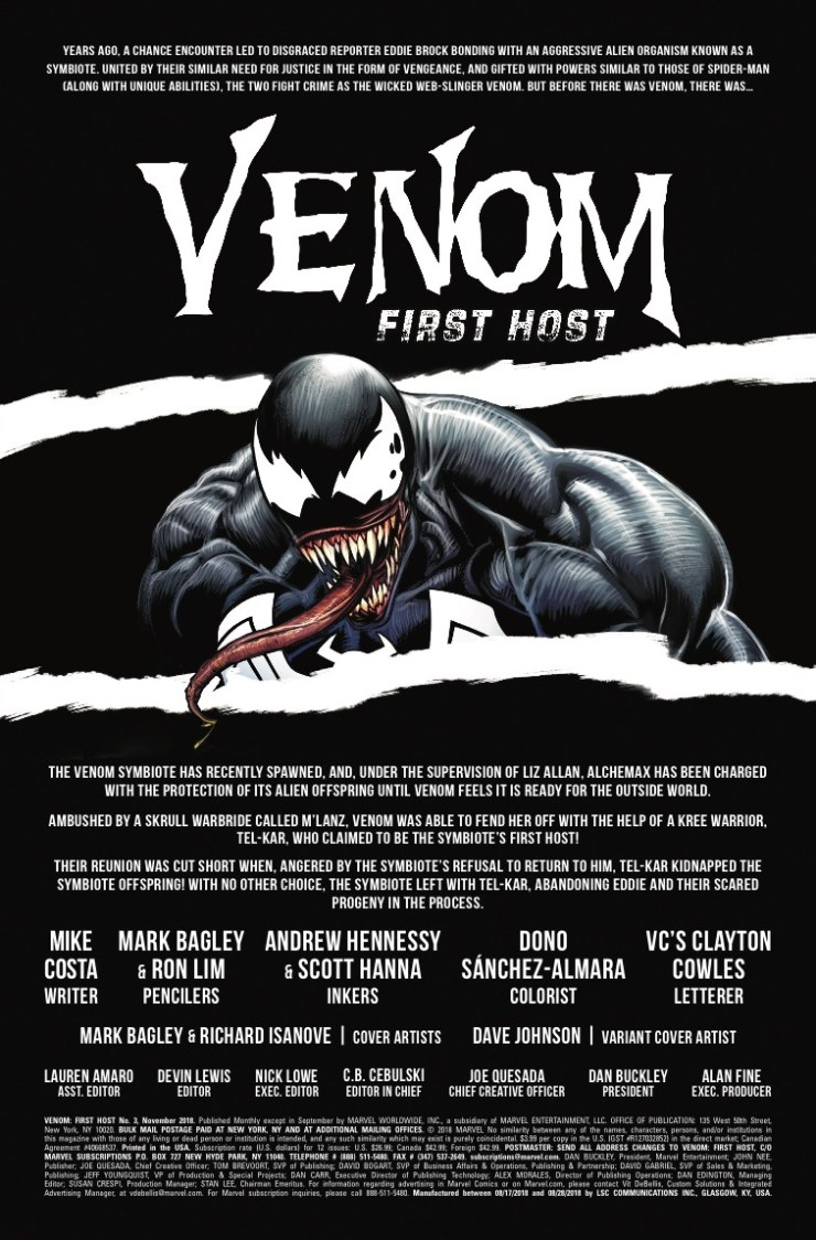 Marvel Preview: Venom: First Host #3