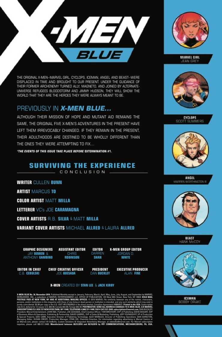 Marvel Preview: X-Men Blue #36