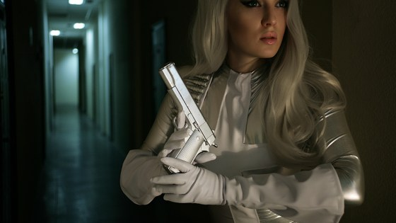Kate Smirnova brings the alluring yet deadly mercenary Silver Sable to life.