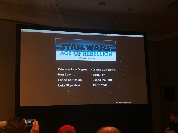 "NYCC 2018: New Star Wars one-shots showcased for upcoming ""Age of Star Wars"" line"