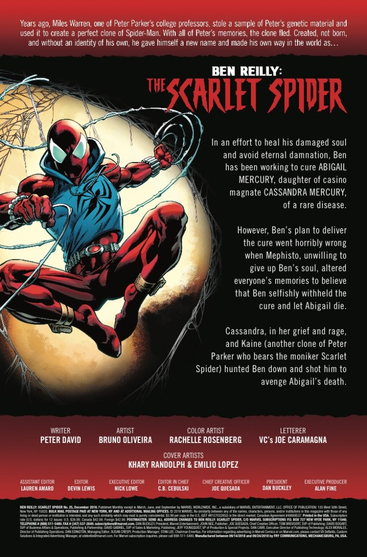 Marvel Preview: Ben Reilly: The Scarlet Spider #25