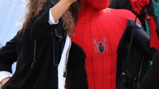 Check out Spidey's new costume in the latest set photos from Spider-Man: Far From Home.