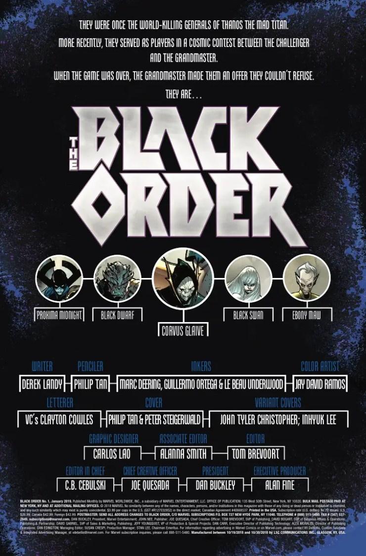 Marvel Preview: The Black Order #1