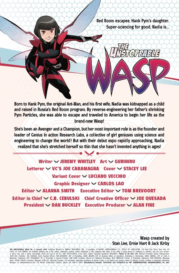 Marvel Preview: The Unstoppable Wasp #2