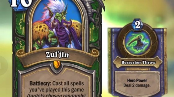 Hearthstone: Rastakhan's Rumble: Zul'jin, new Legendary Hunter hero card revealed