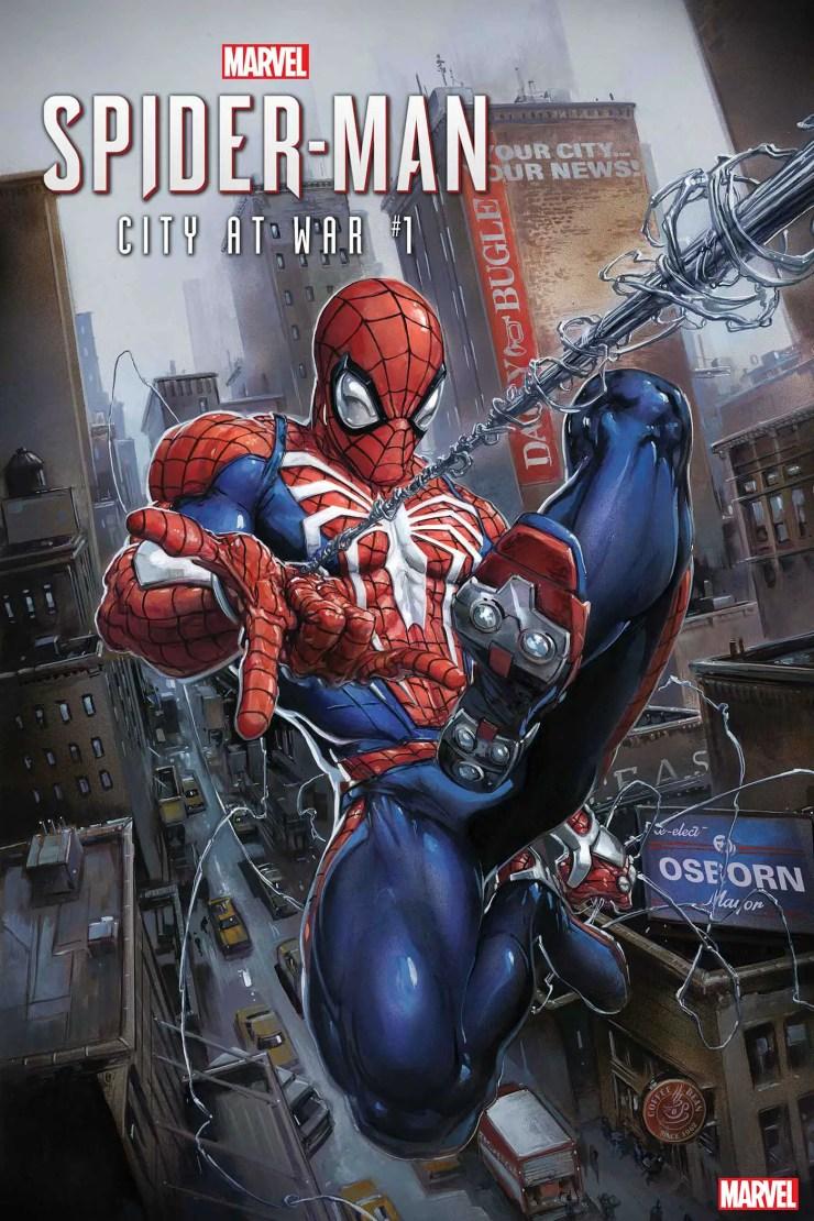 PS4 Spider-Man swings into Marvel Comics series 'City at War'