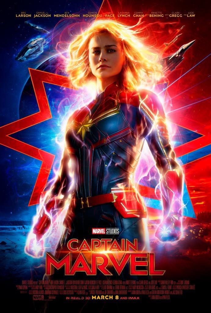 First Look: Marvel Studios reveals new 'Captain Marvel' poster