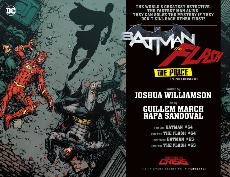 Batman and Flash may kill each other in 'Heroes in Crisis' tie-in event this February