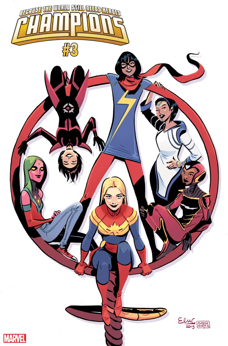 Marvel celebrates International Women's Day with Champions #3 cover