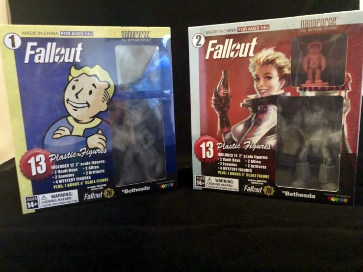 Fallout Nanoforce series 1 Army Builder Figure Collection - boxed volume 1 & 2 review